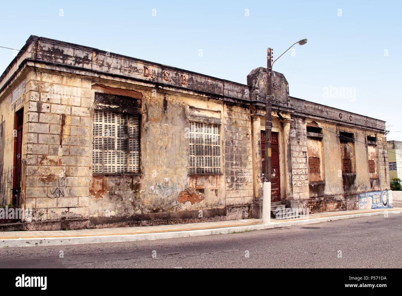 Building, Historic Center, Cidade Alta, Natal, Rio Grande do Norte, Brazil - Stock Image