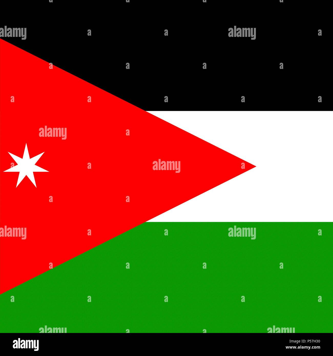 national flag of jordan stock photos national flag of jordan stock