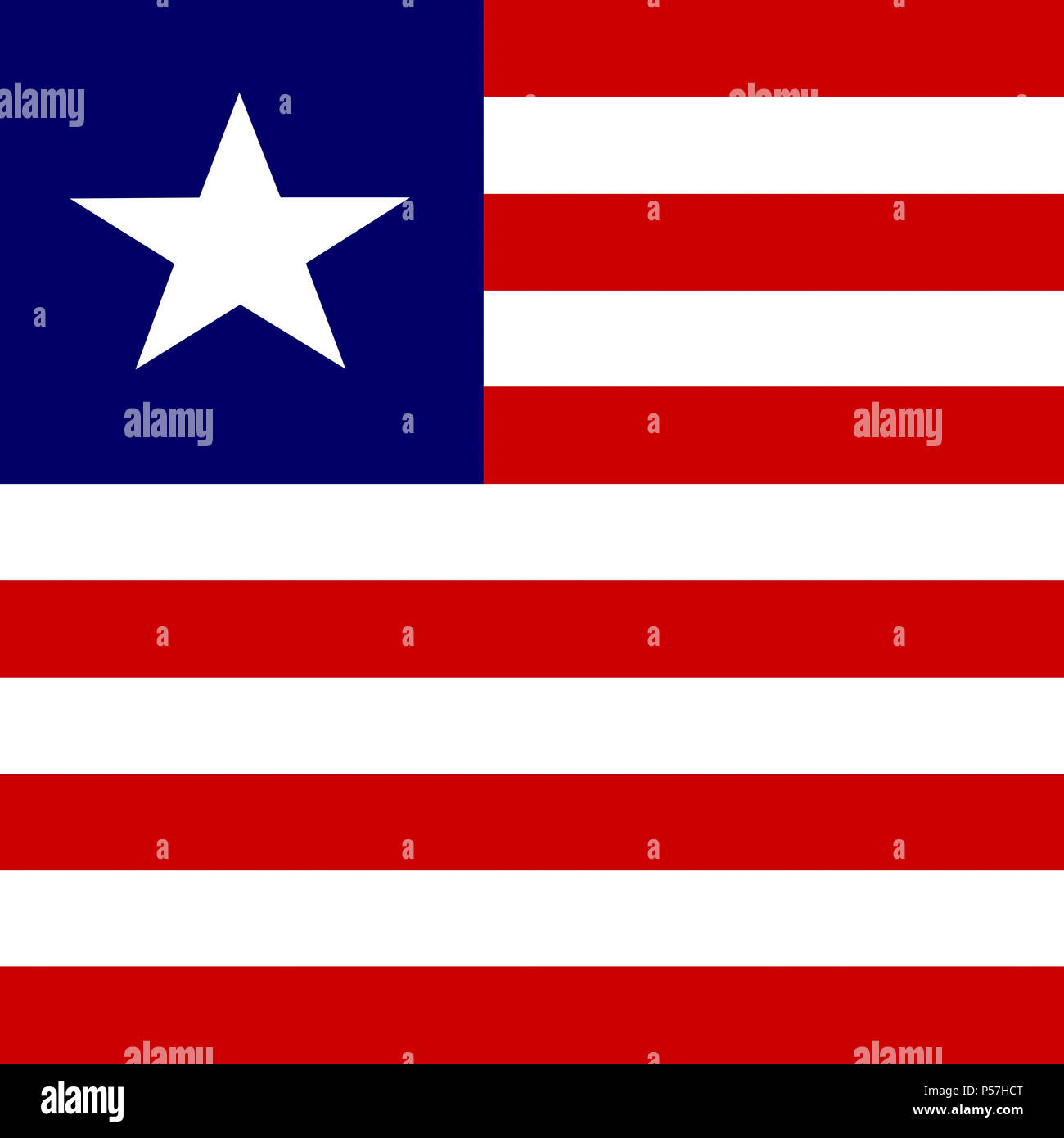 Official national flag of Liberia - Stock Image