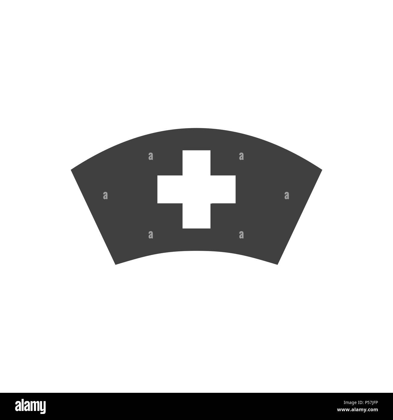 Nurse Hat Vector Icon Stock Vector Art Illustration