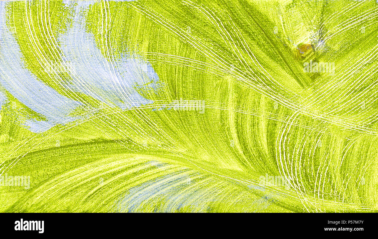 Textured Abstract Painting Hand Painted Background Leaves