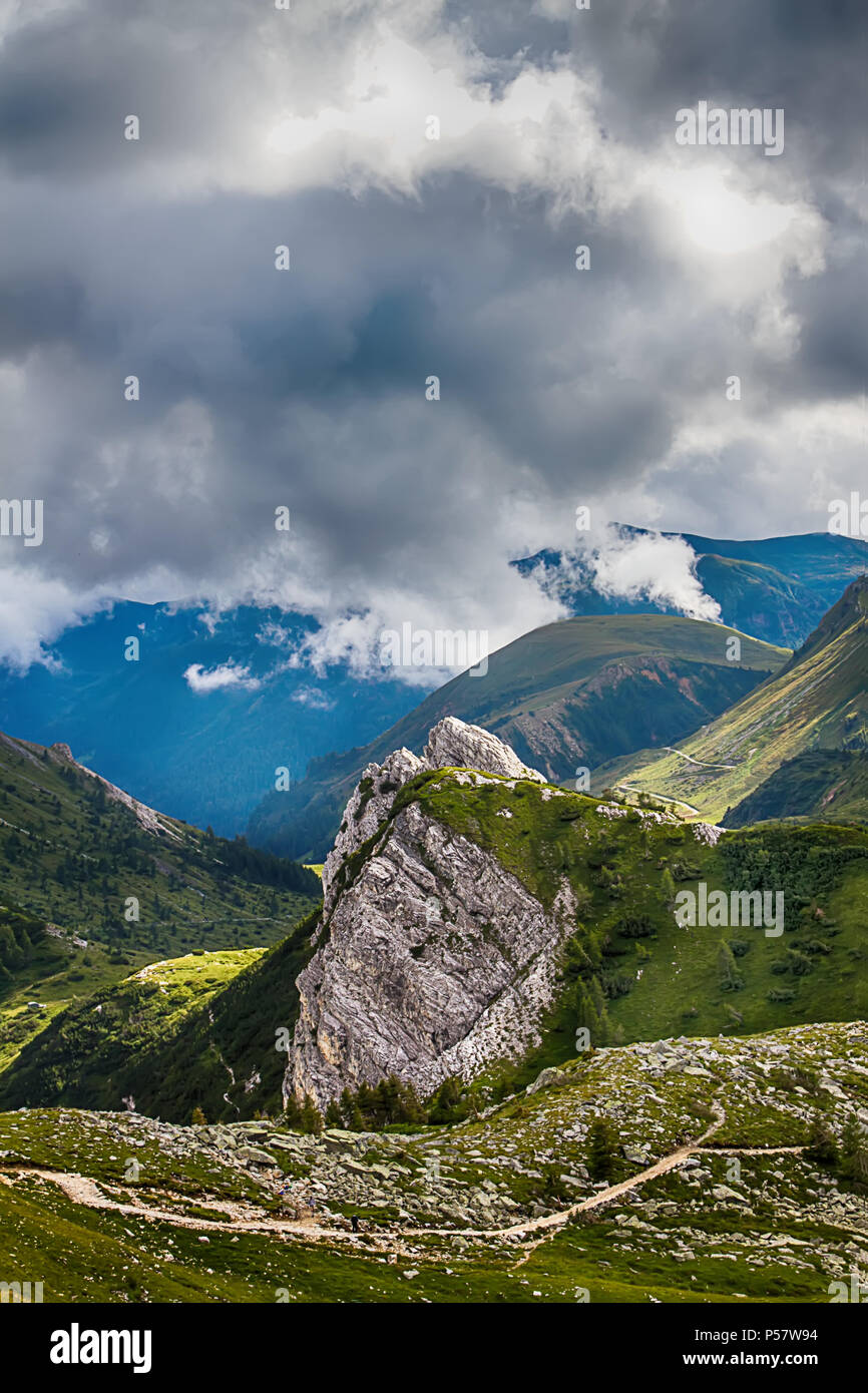 Beautyfull mountain landscape. Alps montains in Bagolino, province of Brescia, Italy. - Stock Image