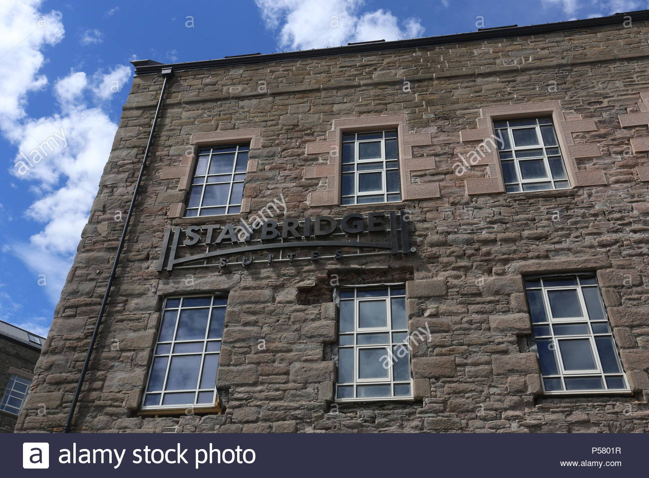 Former Baxter Brothers Mills being refurbished into Hotel Indigo and Staybridge Suites Dundee Scotland  June 2018 - Stock Image