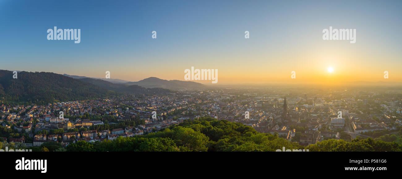 Germany, Freiburg im Breisgau from above XXL panorama Stock Photo