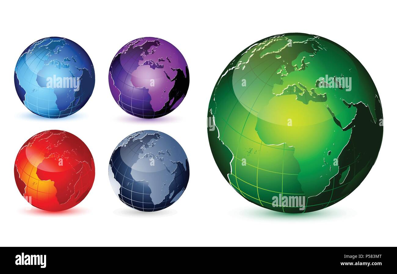 Earth Globes Stock Vector