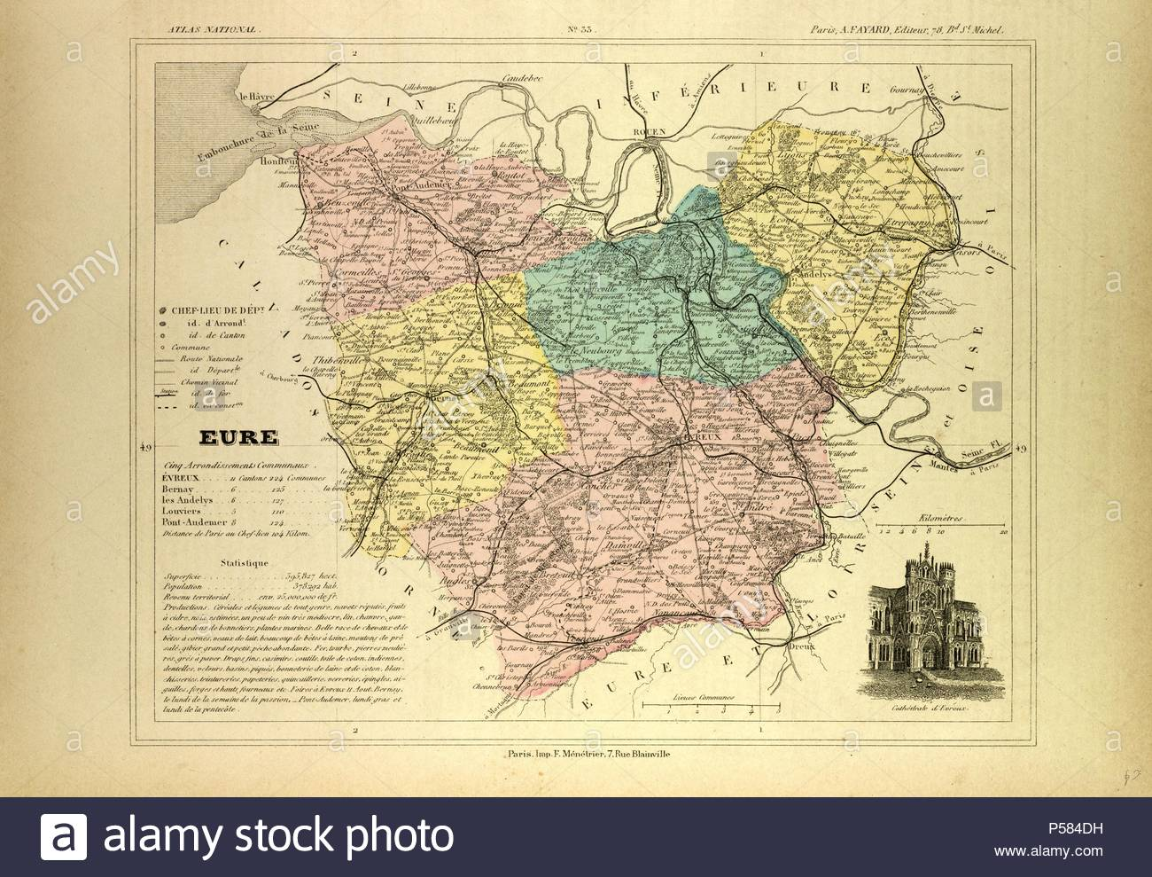 Evreux France Map.Map Of Eure France Stock Photo 209776829 Alamy