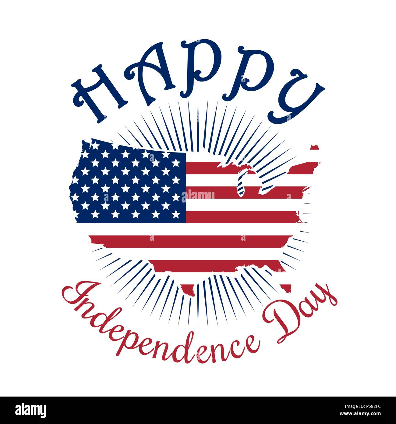 Independence Day icon. Happy Independence Day of America. 4th of ...