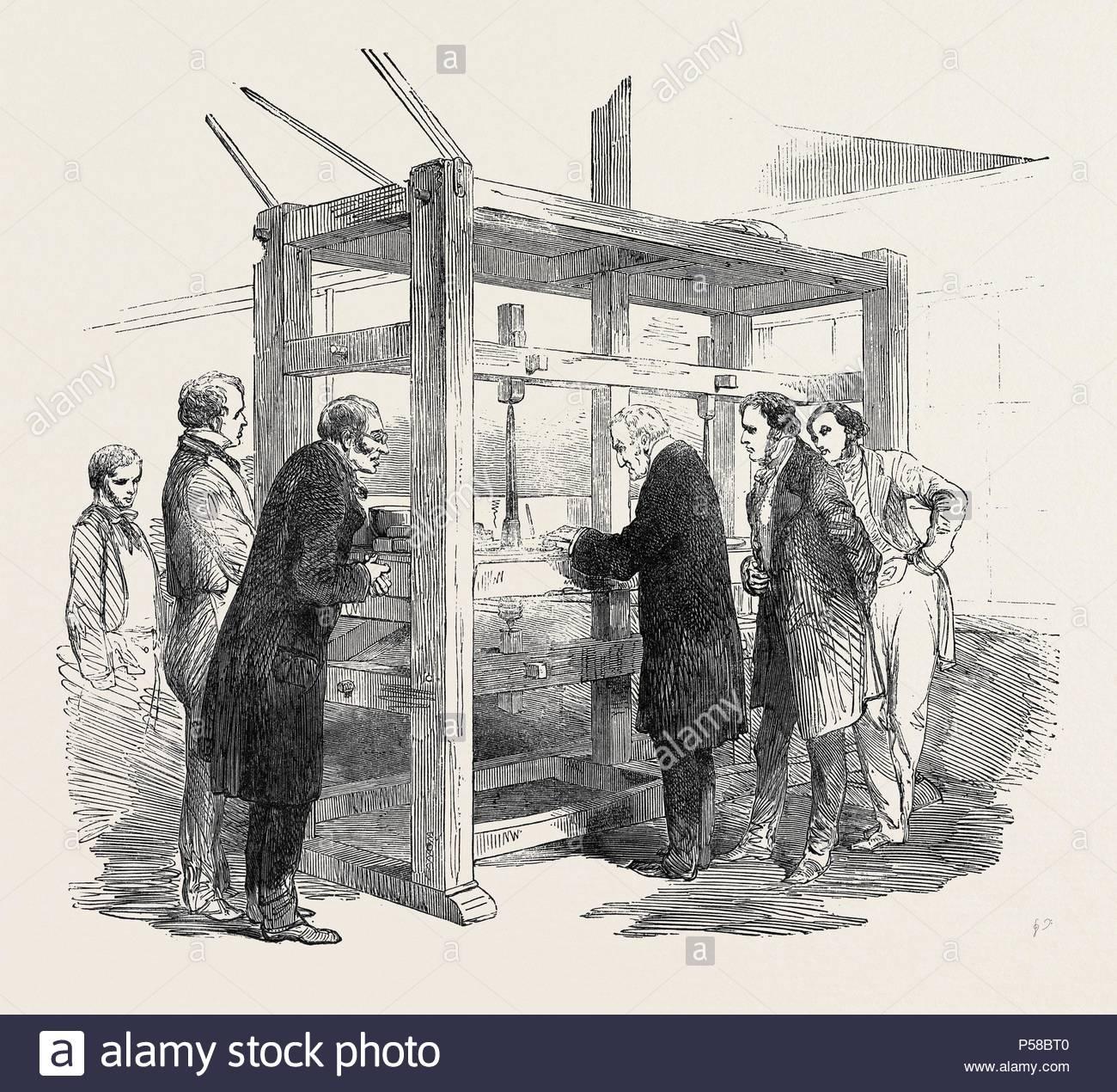RE-CUTTING THE KOH-I-NOOR DIAMOND, 1852. - Stock Image