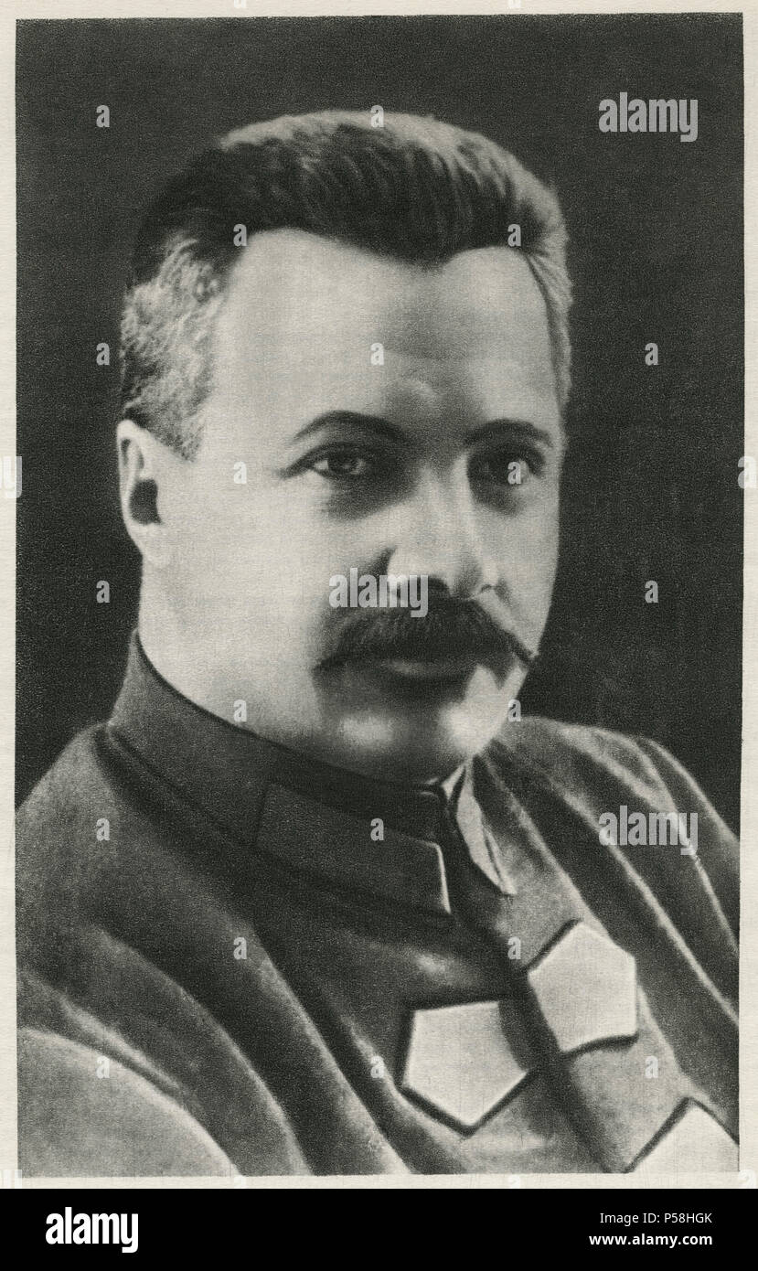 Mikhail Frunze (1885-1925), Bolshevik Leader during Russian Revolution and Commander of Red Army during Russian Civil War, Portrait, 1924 - Stock Image