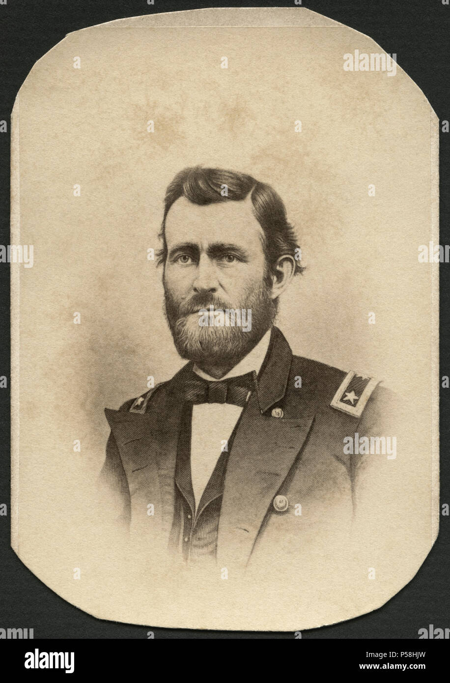 Ulysses S. Grant (1822-1885), 18th President of the United States, Portrait by Joseph Ward, late 1860's - Stock Image