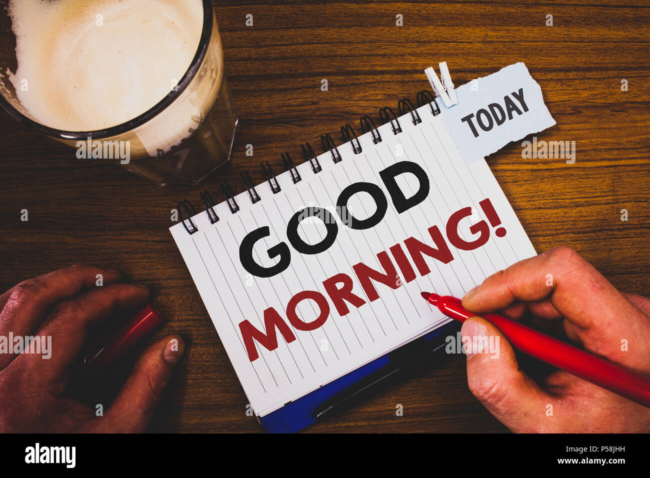Handwriting textss writing good morning motivational call concept handwriting textss writing good morning motivational call concept meaning greeting wishes for a great day inspirational m4hsunfo
