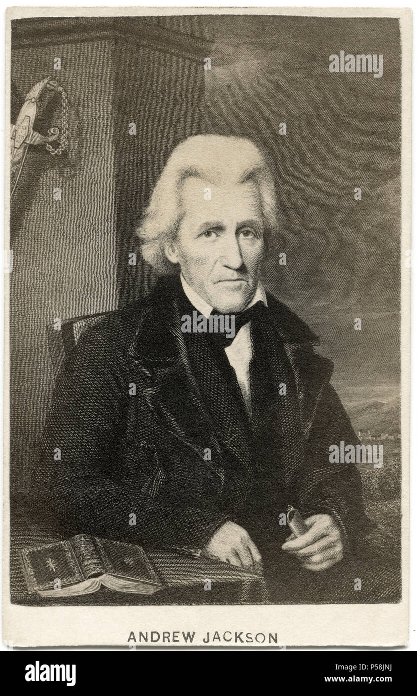 Andrew Jackson (1767-1845), Seventh President of the United States, 1829-37, Portrait - Stock Image