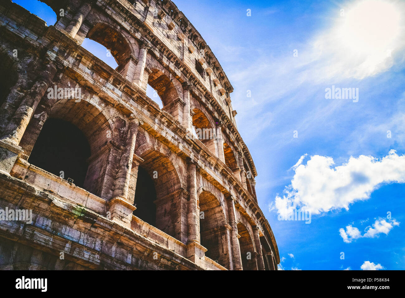 Amazing view of the Colosseum in Rome Stock Photo
