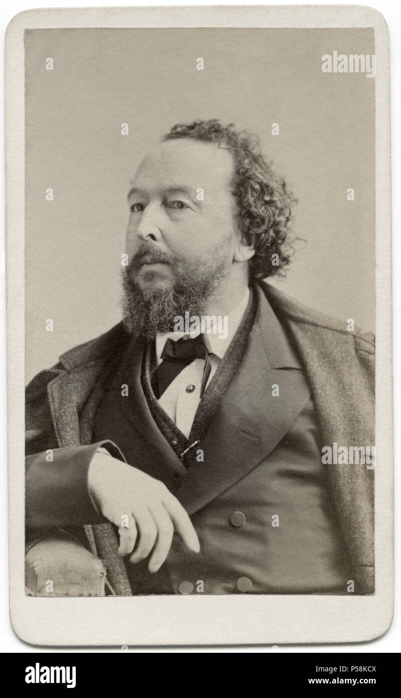 Bayard Taylor (1825-78), American Poet, Literary Critic, Travel Author and Diplomat, Portrait, Sarony & Co., 1871 - Stock Image