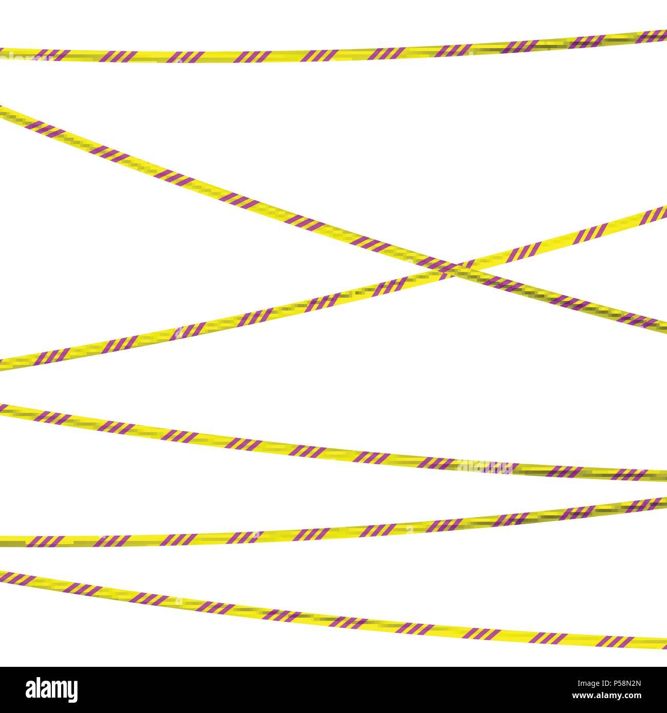Radiation hazards tape - Stock Vector