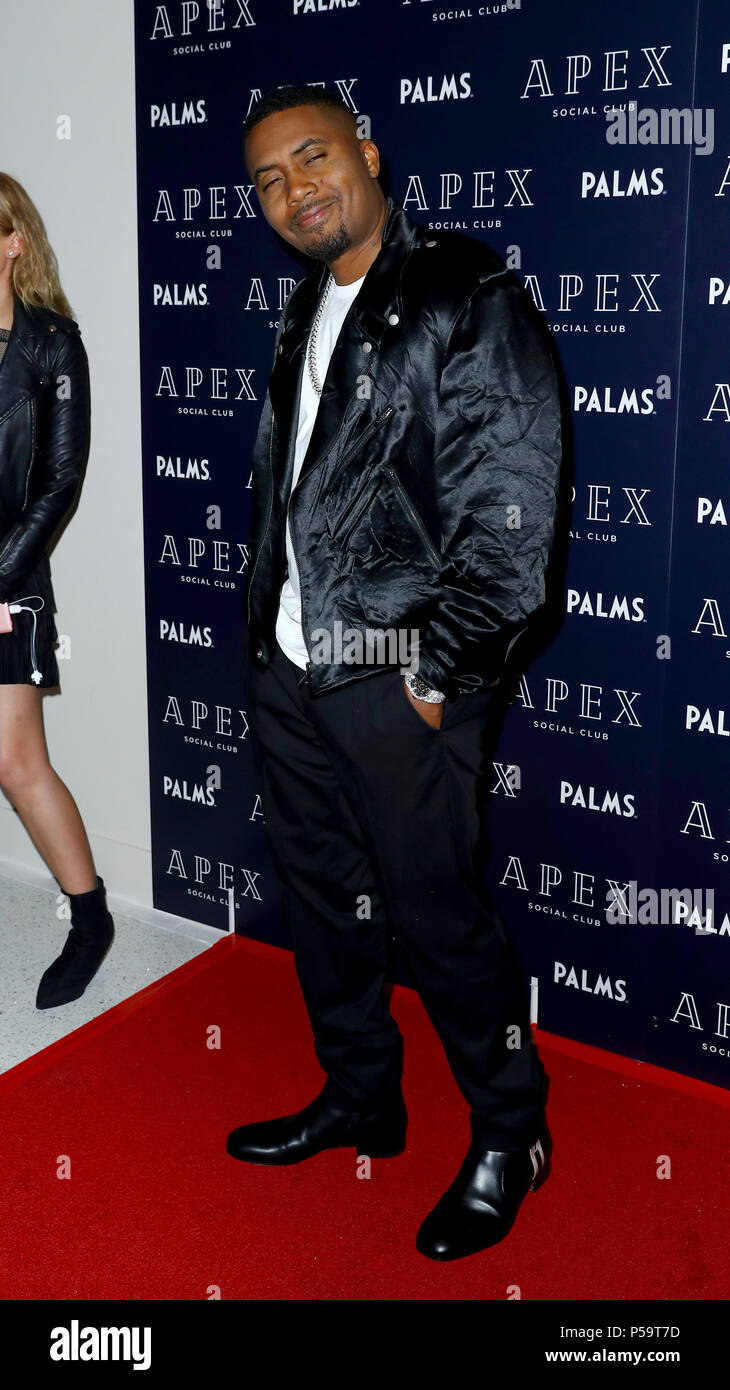 Grand Opening APEX Social Club + Camden Cocktail Lounge at The Palms Casino Resorts Las Vegas  Featuring: Nas Where: Las Vegas, Nevada, United States When: 25 May 2018 Credit: Judy Eddy/WENN.com - Stock Image