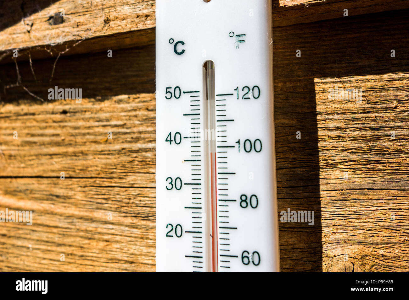 A Garden Thermometer Is Seen Reading Almost 37 Degrees Celsius 986 Fahrenheit In Full Sun As The June Heatwave Hits UK Back