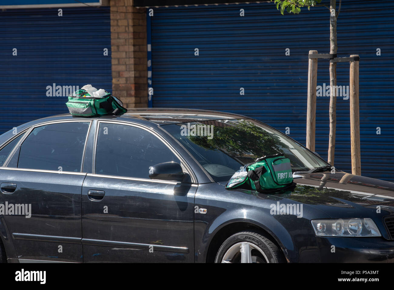 London, United Kingdom. 26 June 2018. A stabbing has occurred in Bounces Road, Edmonton. Credit: Peter Manning/Alamy Live News Stock Photo