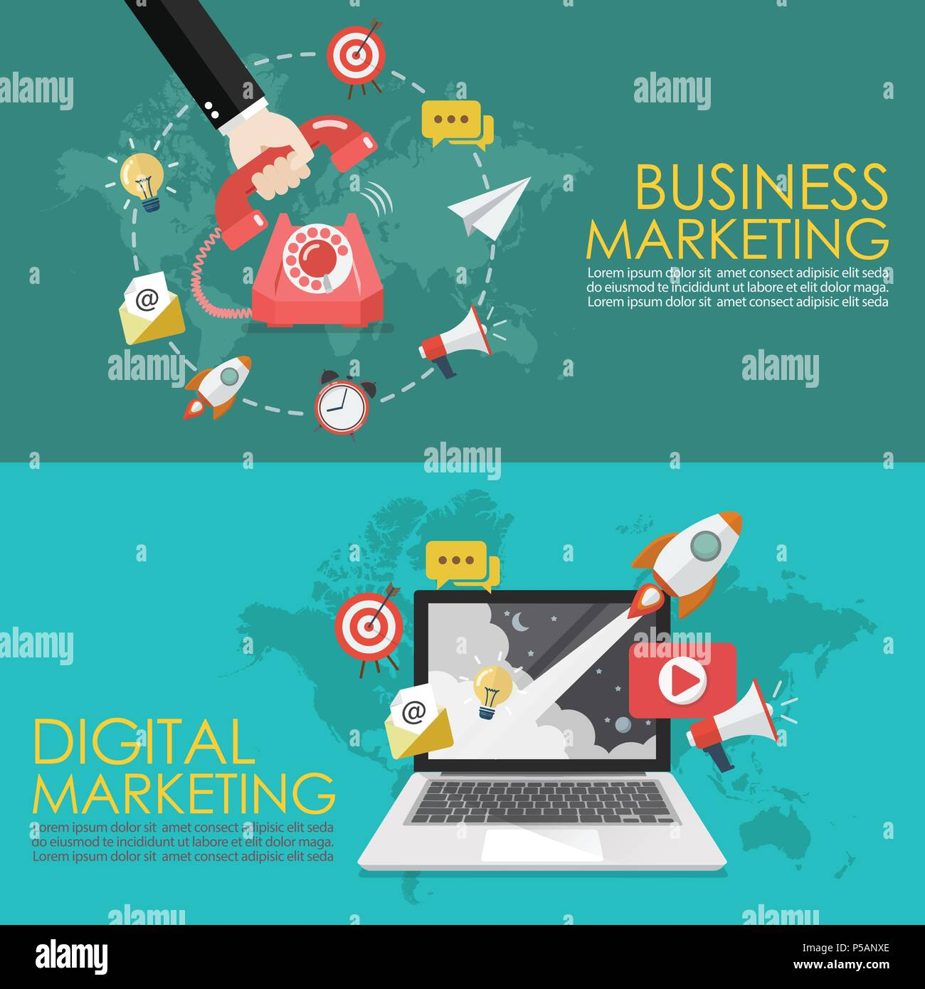 26+ Digital Marketing Vector Illustration