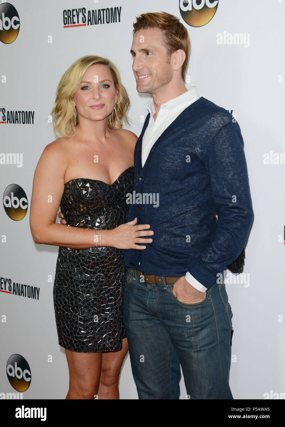 Jessica Capshaw And Husband Christopher Gavigan Arriving At The