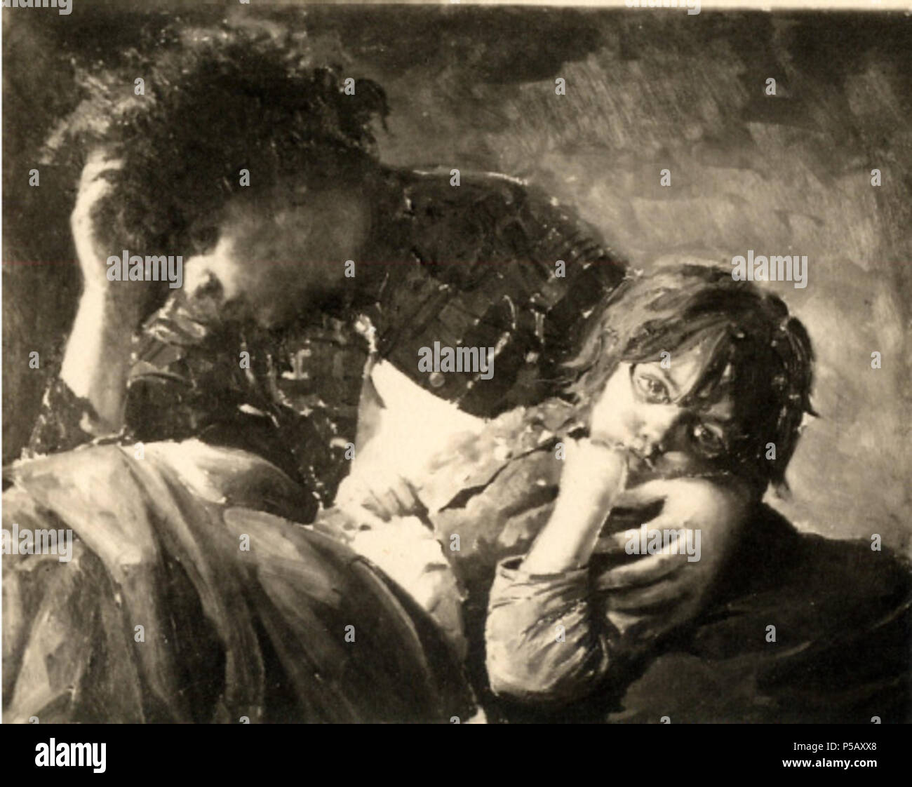 N/A. Per via . circa 1885.    Antonino Gandolfo (1841–1910)   Description Italian painter  Date of birth/death 28 October 1841 / 28 November 1841 21 March 1910  Location of birth/death Catania Catania  Authority control  : Q599226 VIAF:192926748 ISNI:0000 0003 8530 7345 SUDOC:118598074 RKD:333730 Koninklijke:157849333 112 Antonino gandolfo per via - Stock Image