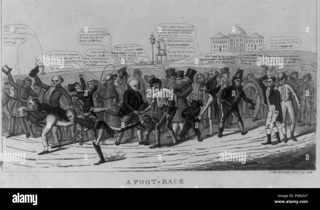 1824 Footrace byDClaypooleJohnston LibraryOfCongress. - Stock Image