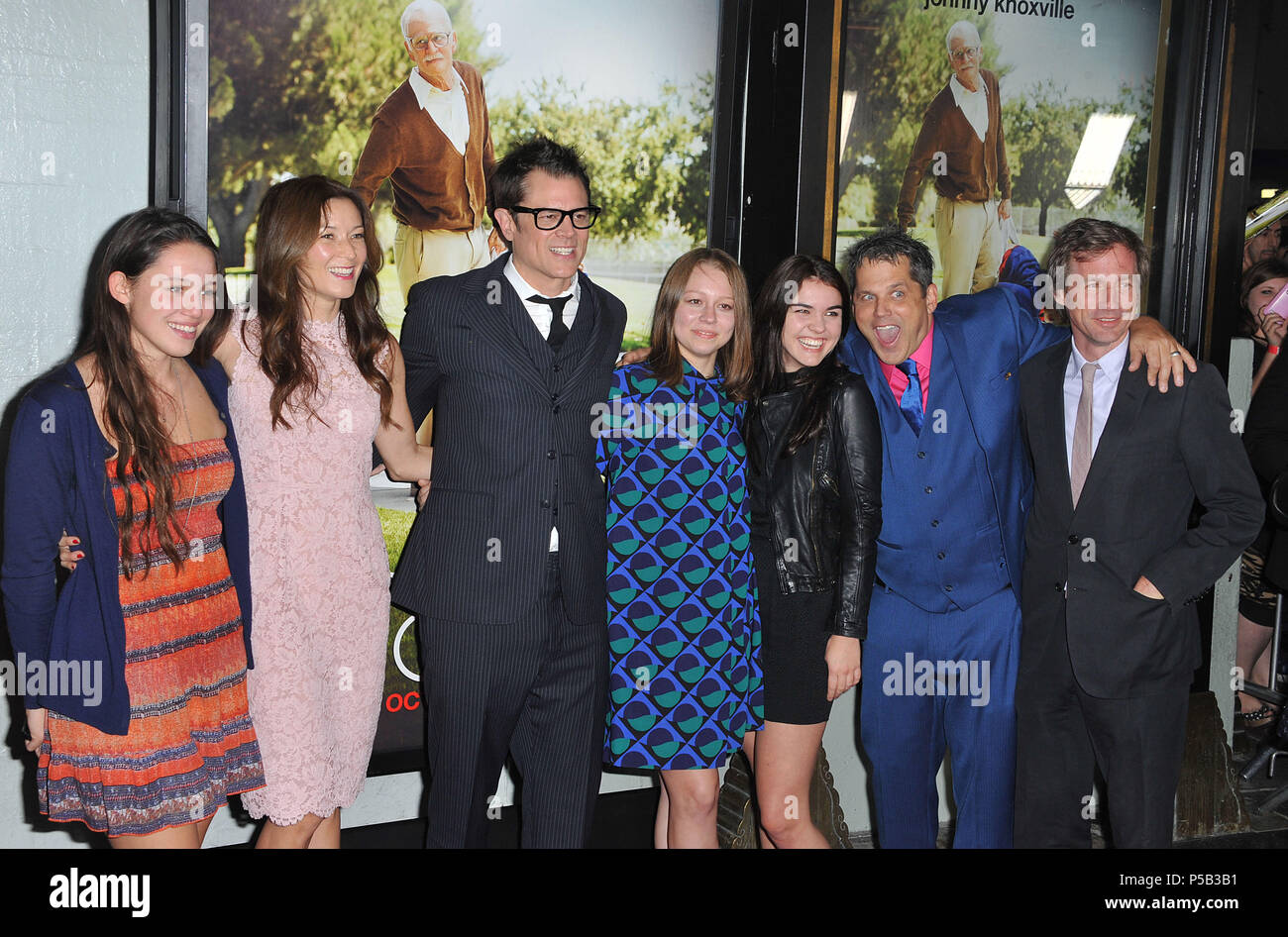 Johnny Knoxville wife and cast at the Bad GranPa Premiere at