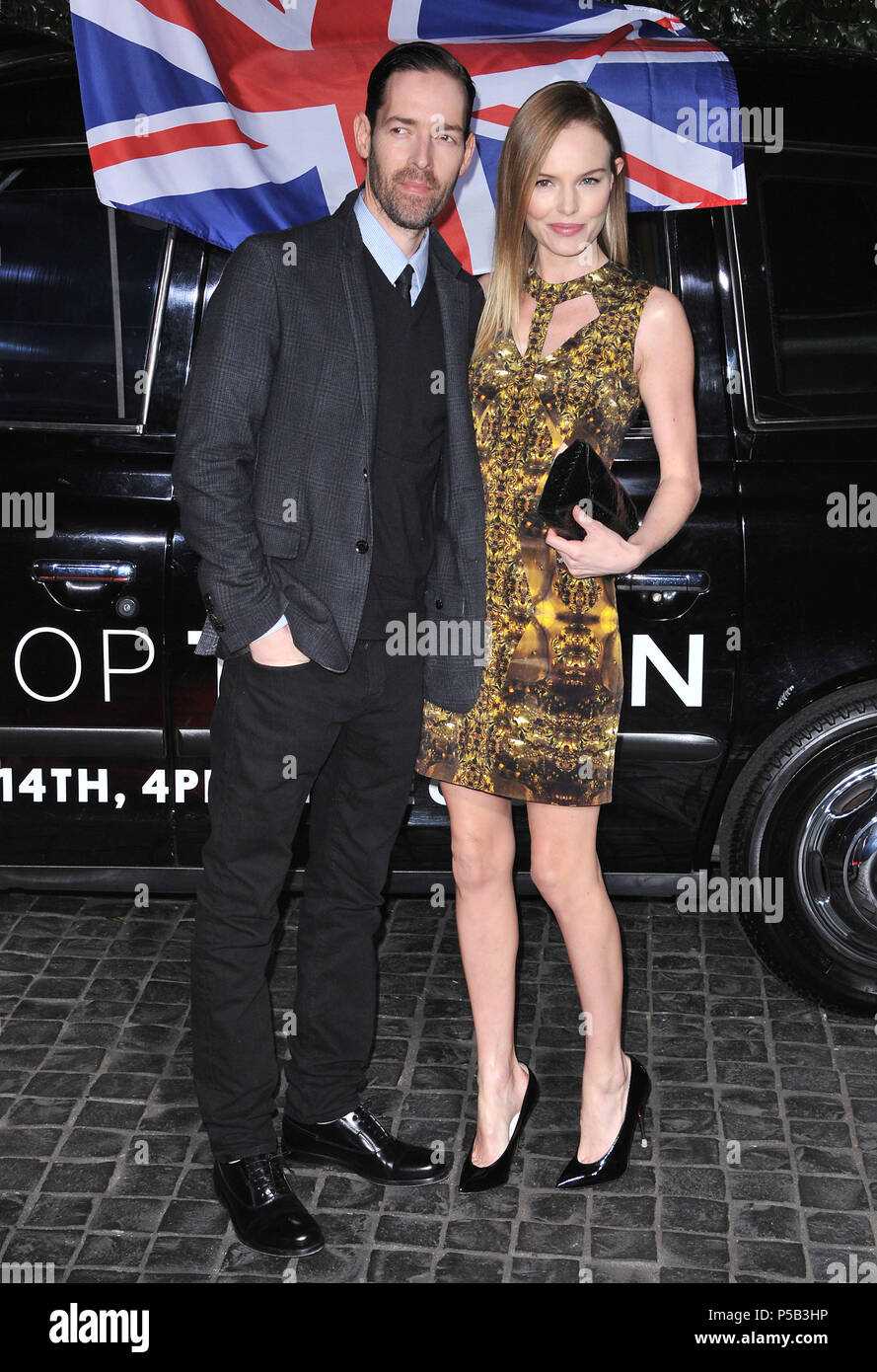 Kate Bosworth and Michael Polish_001 at  the Topshop and Topman Opening in LA at the Cecconi s in West Hollywood.Kate Bosworth and Michael Polish _05 ------------- Red Carpet Event, Vertical, USA, Film Industry, Celebrities,  Photography, Bestof, Arts Culture and Entertainment, Topix Celebrities fashion /  Vertical, Best of, Event in Hollywood Life - California,  Red Carpet and backstage, USA, Film Industry, Celebrities,  movie celebrities, TV celebrities, Music celebrities, Photography, Bestof, Arts Culture and Entertainment,  Topix, vertical,  family from from the year , 2013, inquiry tsuni@ - Stock Image