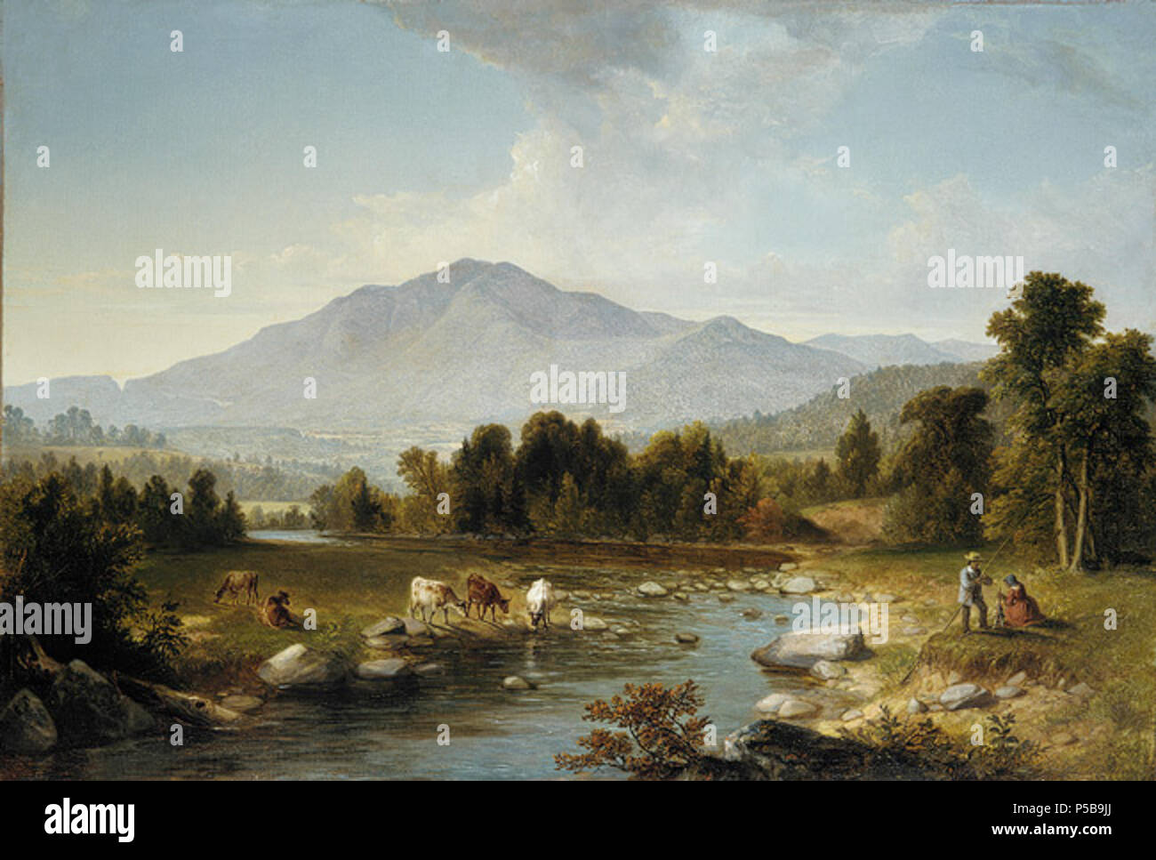 Working Title/Artist: Asher Brown Durand: High Point: Shandaken Mountains Department: Am. Paintings / Sculpture Culture/Period/Location:  HB/TOA Date Code:  Working Date:  photography by mma, ap77.3.1.tif retouched by film and media (jnc) 9 22 09 486 Durand Asher B High Point Shandaken Mountains - Stock Image