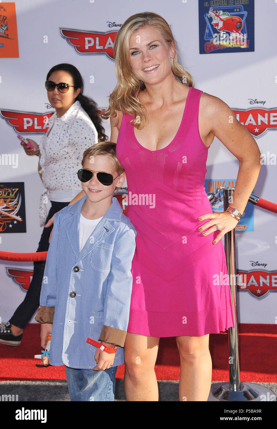 Alison Sweeney Family Pictures alison sweeney and son arriving at the planes premiere at