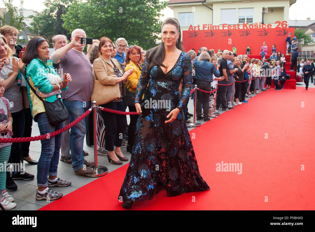 Slovak actress Zuzana Maurery at the opening ceremony of Art Film Fest film festival in Kosice, Slovakia - Stock Image