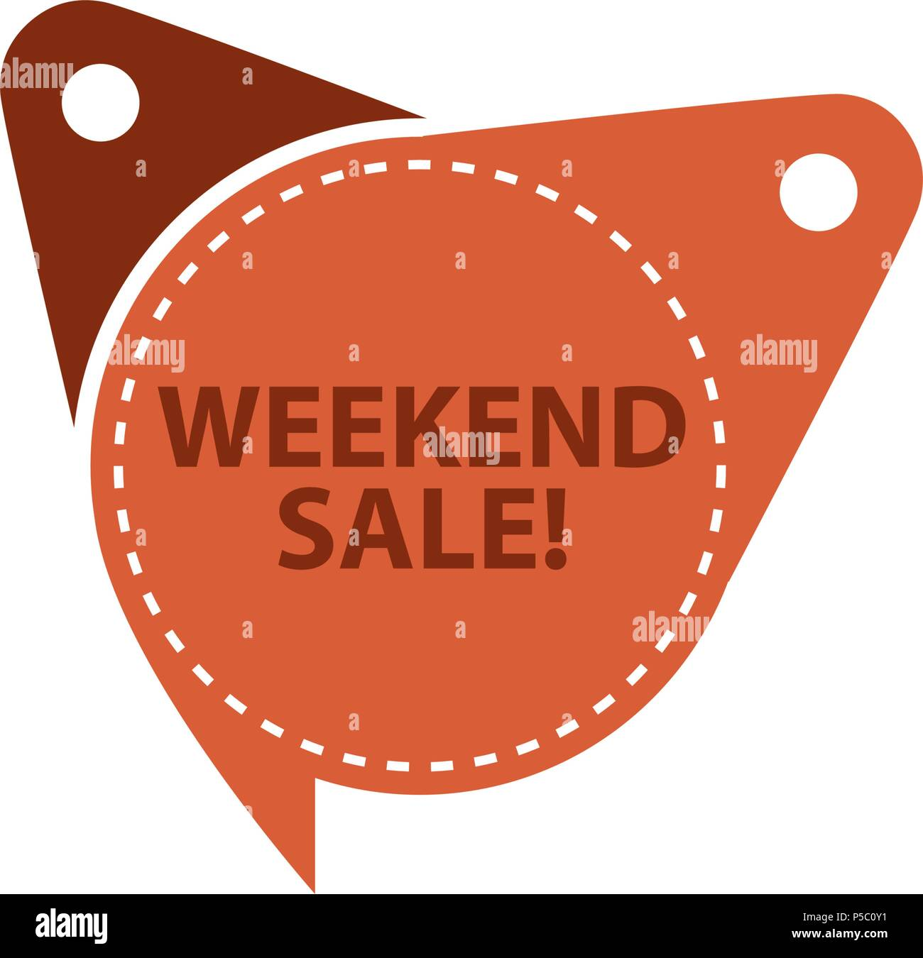 weekend sale tag template isolated stock vector art illustration