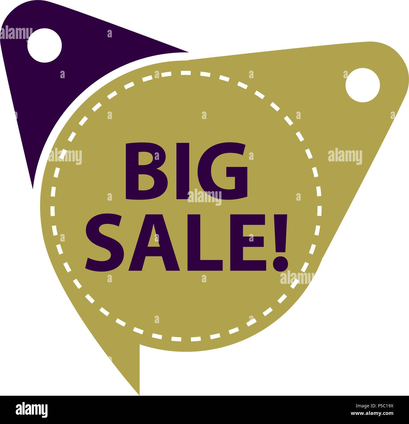 big sale tag template isolated stock vector art illustration