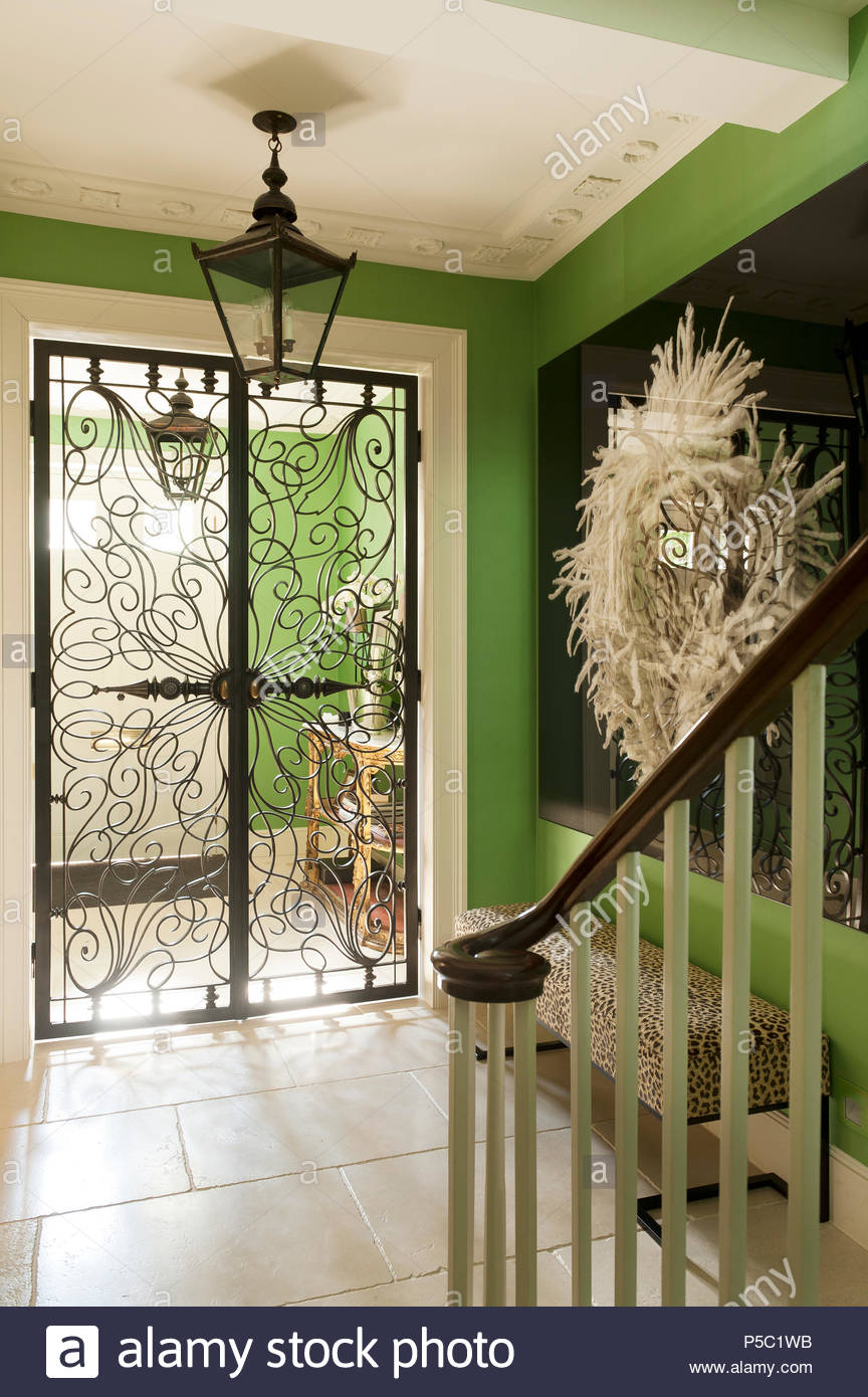 Closed Wrought Iron Doors To Entrance Hall