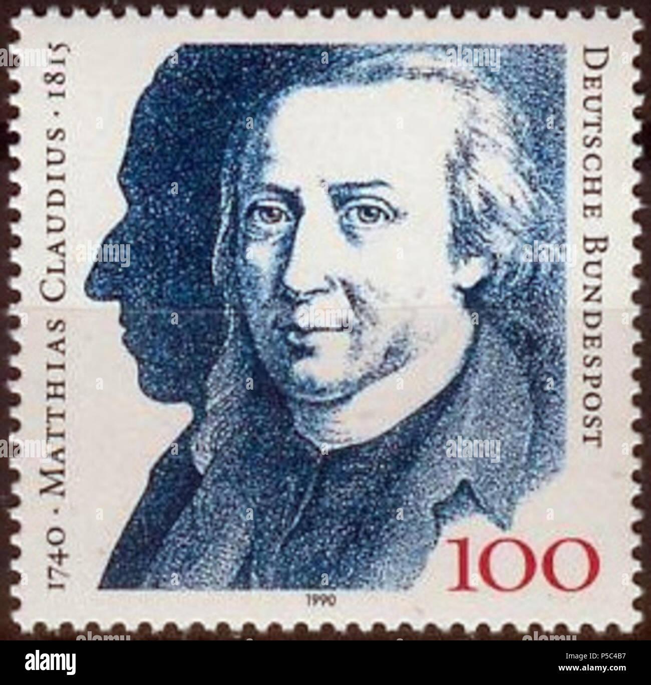 N/A. Motiv / Motive: 250. Geburtstag Von Matthias Claudius Ausgabepreis /