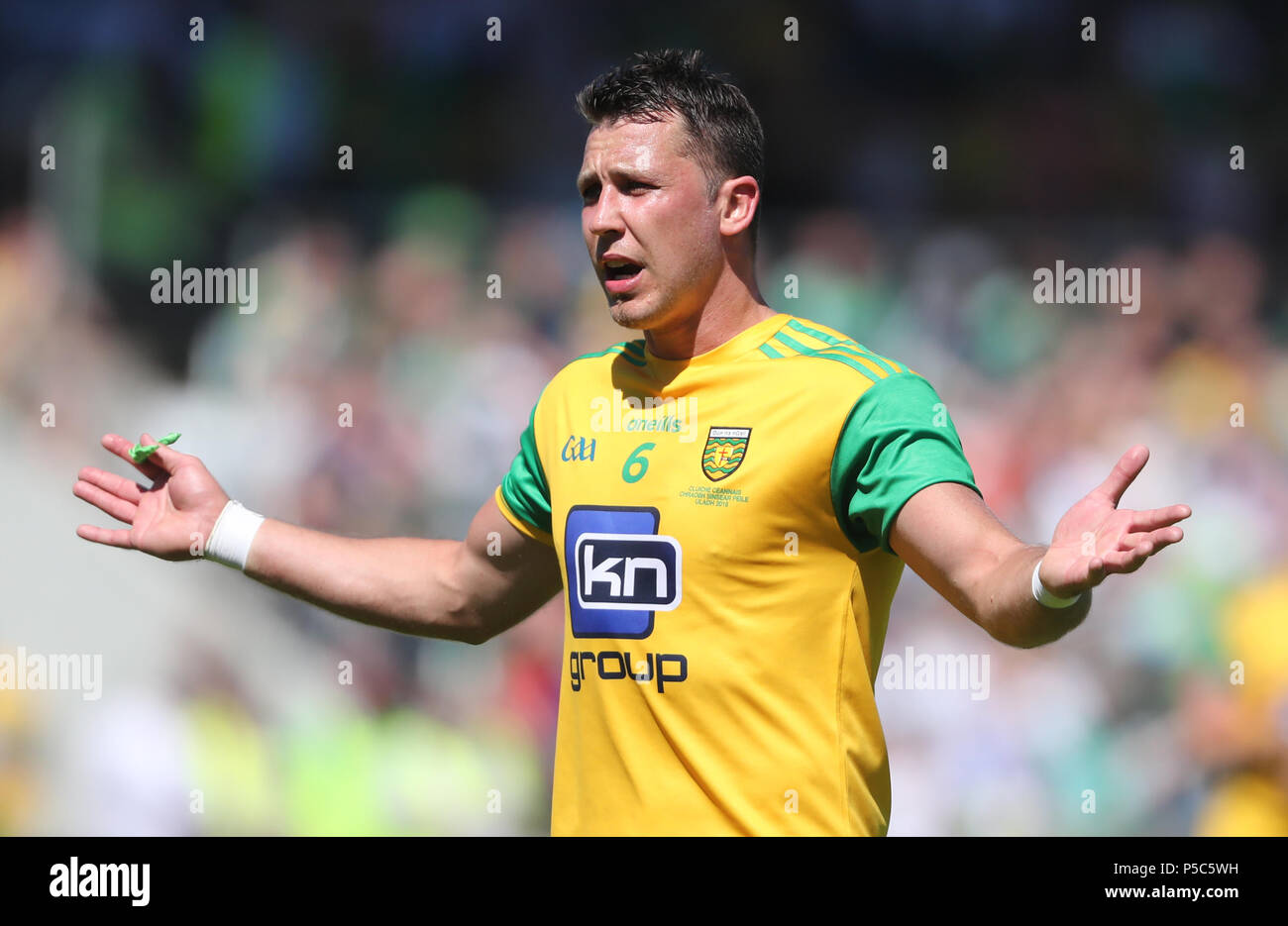 Donegal's Paul Brennan during the GAA Ulster Final in Clones, Co Monaghan, Ireland. - Stock Image