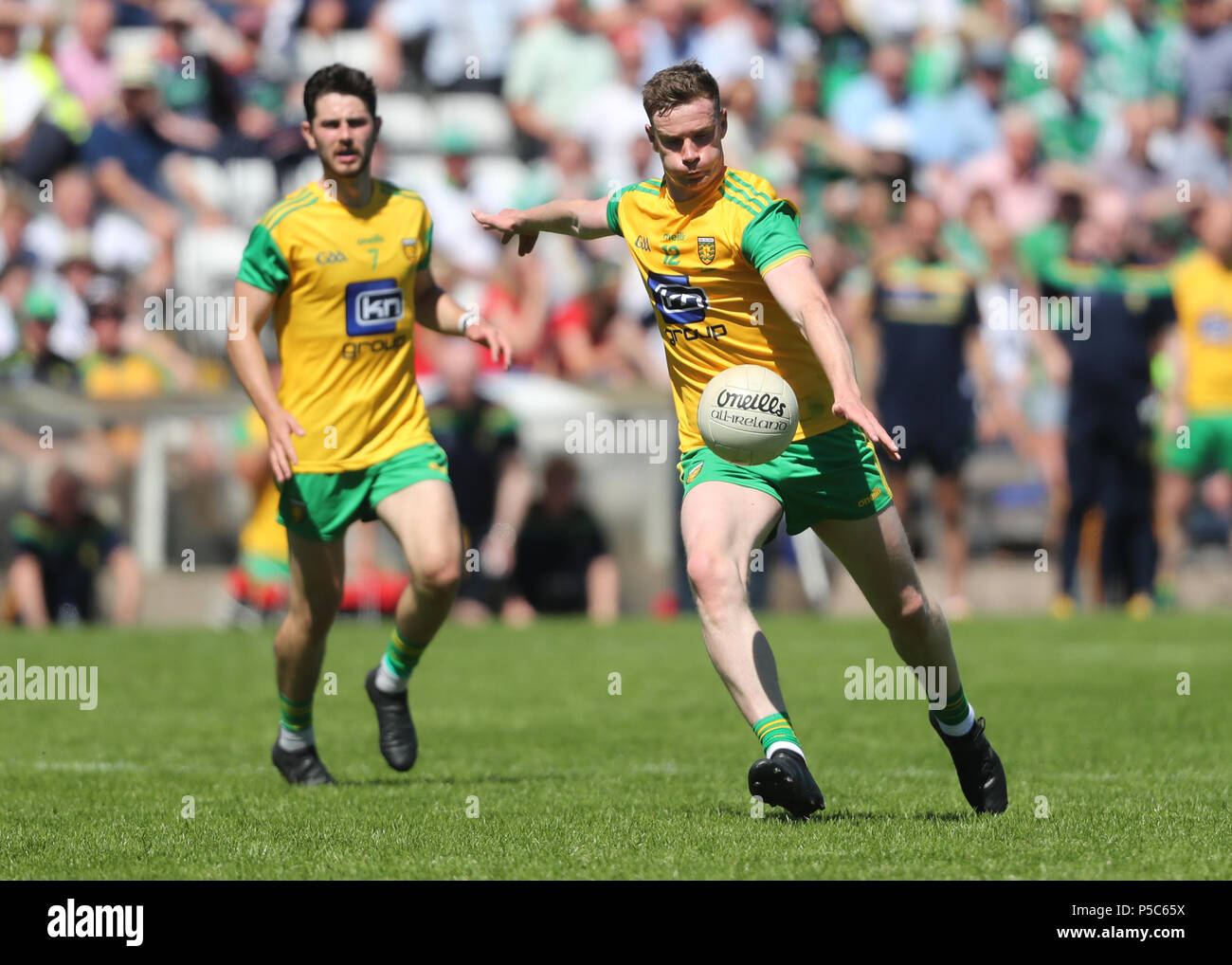 Donegal's Ciaran Thompson during the GAA Ulster Final in Clones, Co Monaghan, Ireland. - Stock Image
