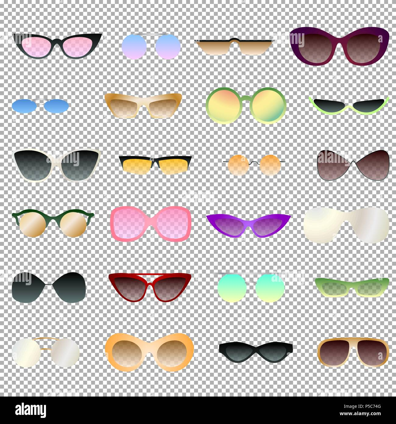 f373b2b8eac Transparent and opaque eyewear set for clipart