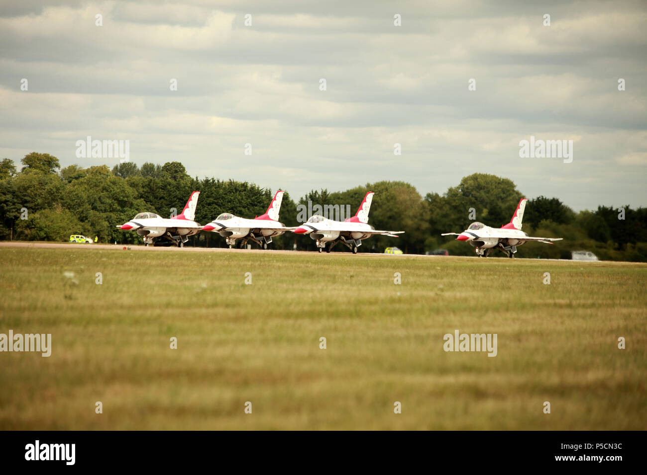 F-16D Fighting Falcons. The USAF Thunderbirds - Stock Image