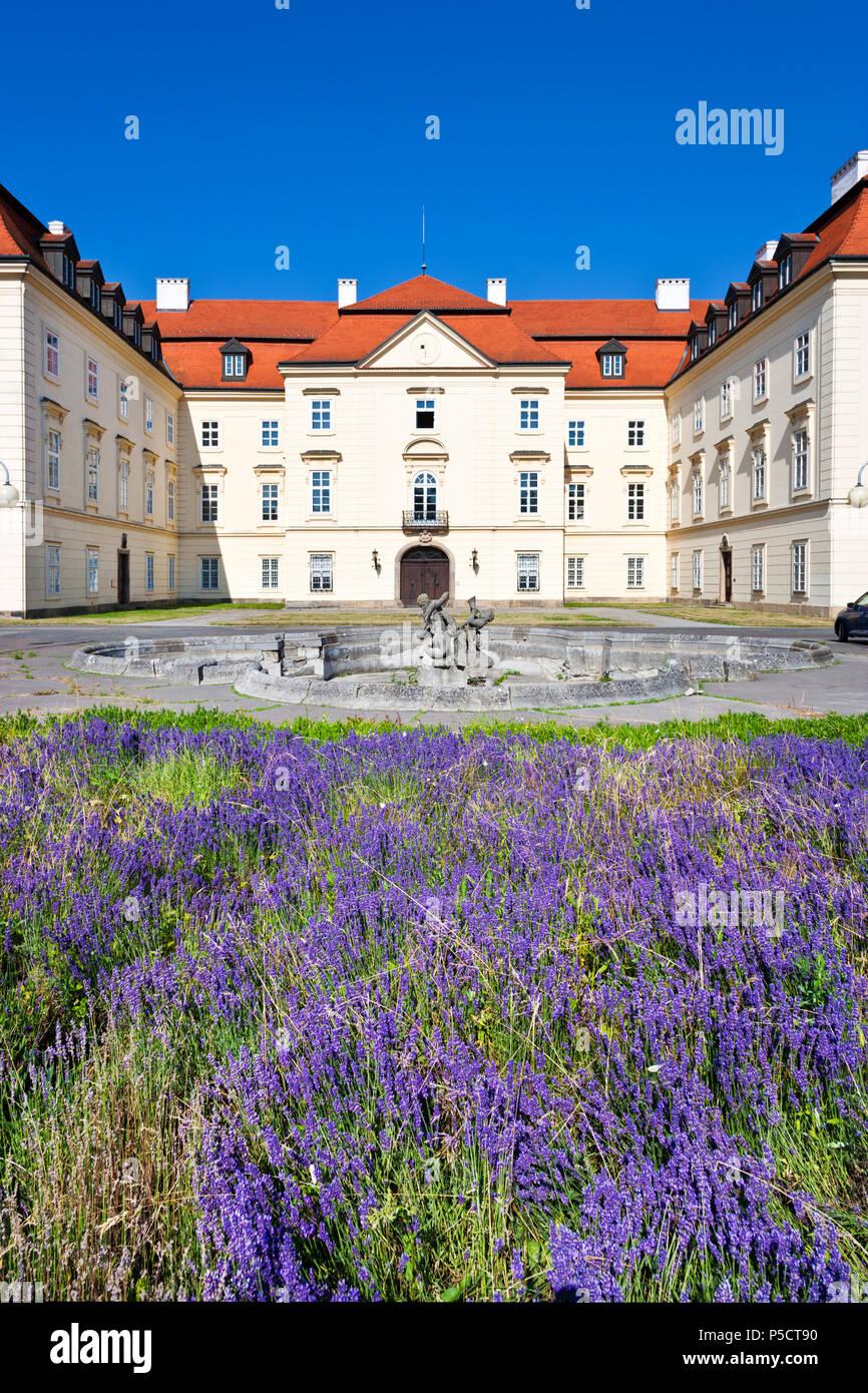 barokní zámek, město Napajedla, Zlínský kraj, Česká republika / baroque, castle, Napajedla town, Zlin region, South Moravia, Czech republic - Stock Image