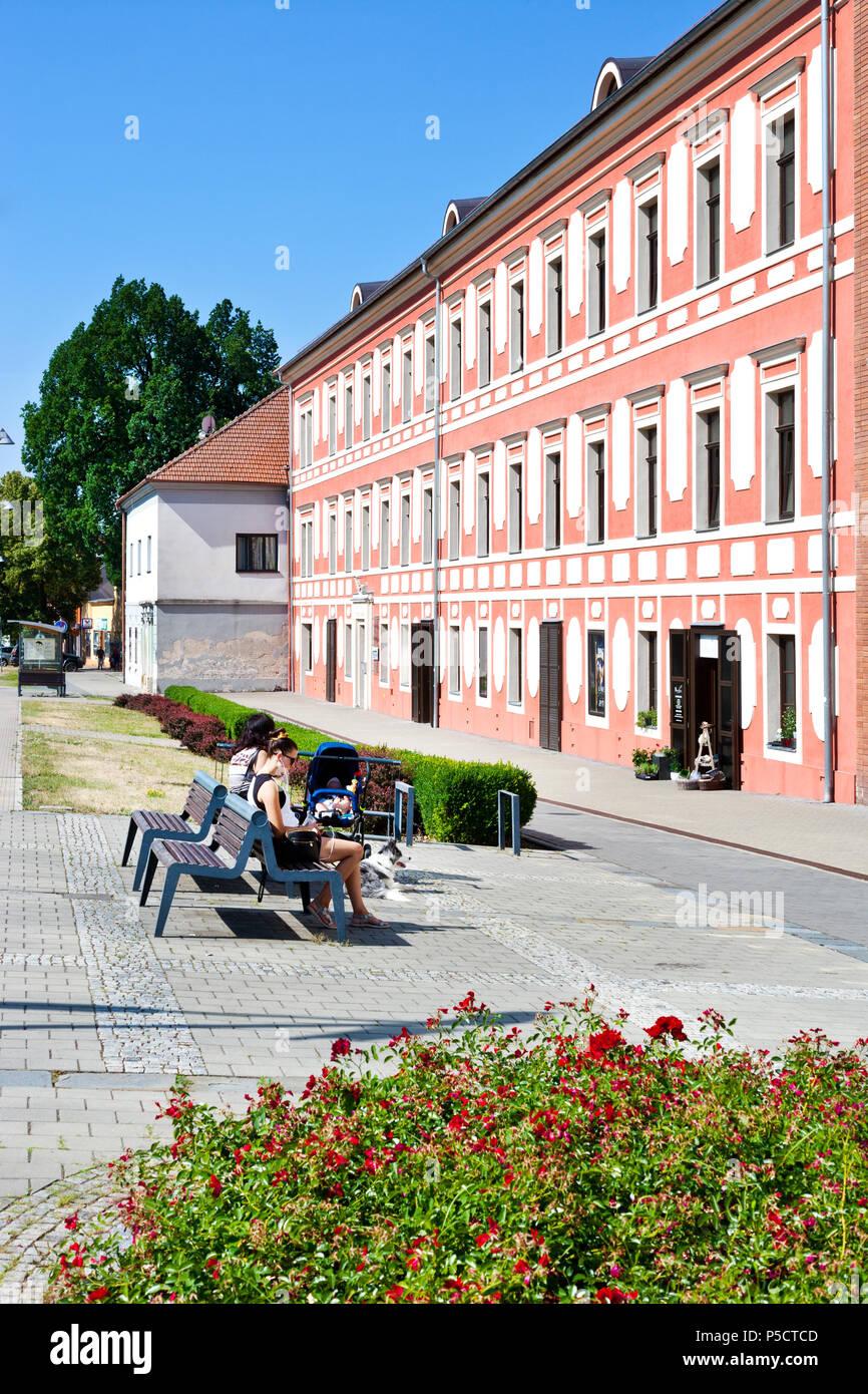 Starý zámek, město Napajedla, Zlínský kraj, Česká republika / Old castle, Napajedla town, Zlin region, South Moravia, Czech republic - Stock Image