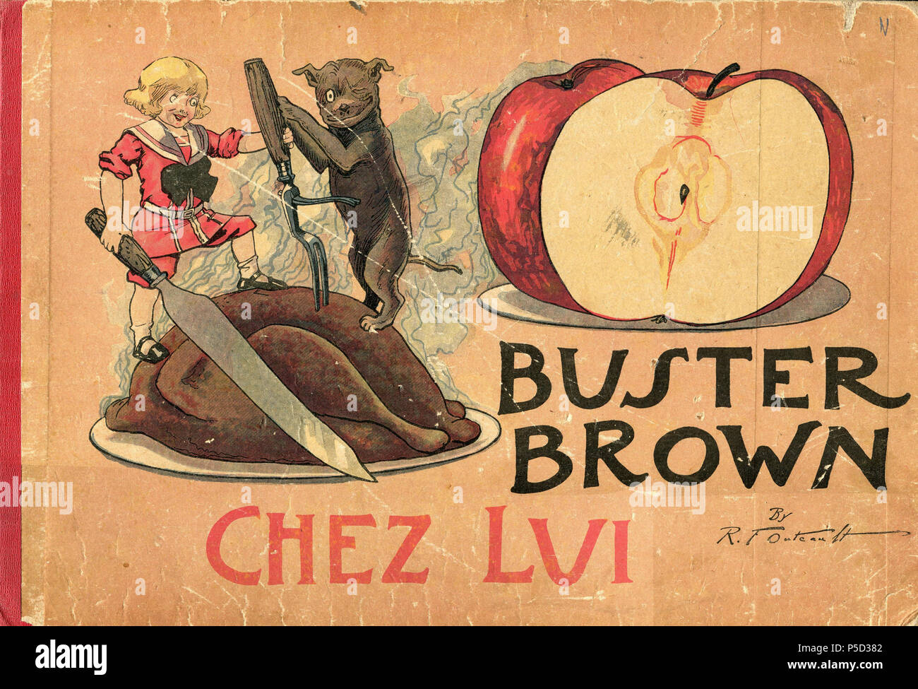 N/A. Français : Buster Brown chez lui . 8 October 2011. Richard Felton Outcault 6 - Buster Brown chez lui 00a - Stock Image