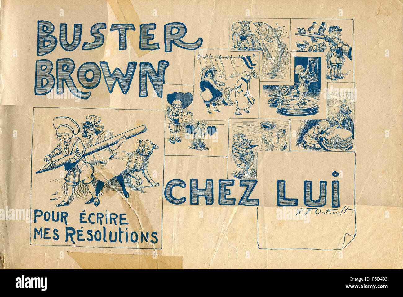 N/A. Français : Buster Brown chez lui . 13 November 2011. Richard Felton Outcault 6 - Buster Brown chez lui 00b - Stock Image