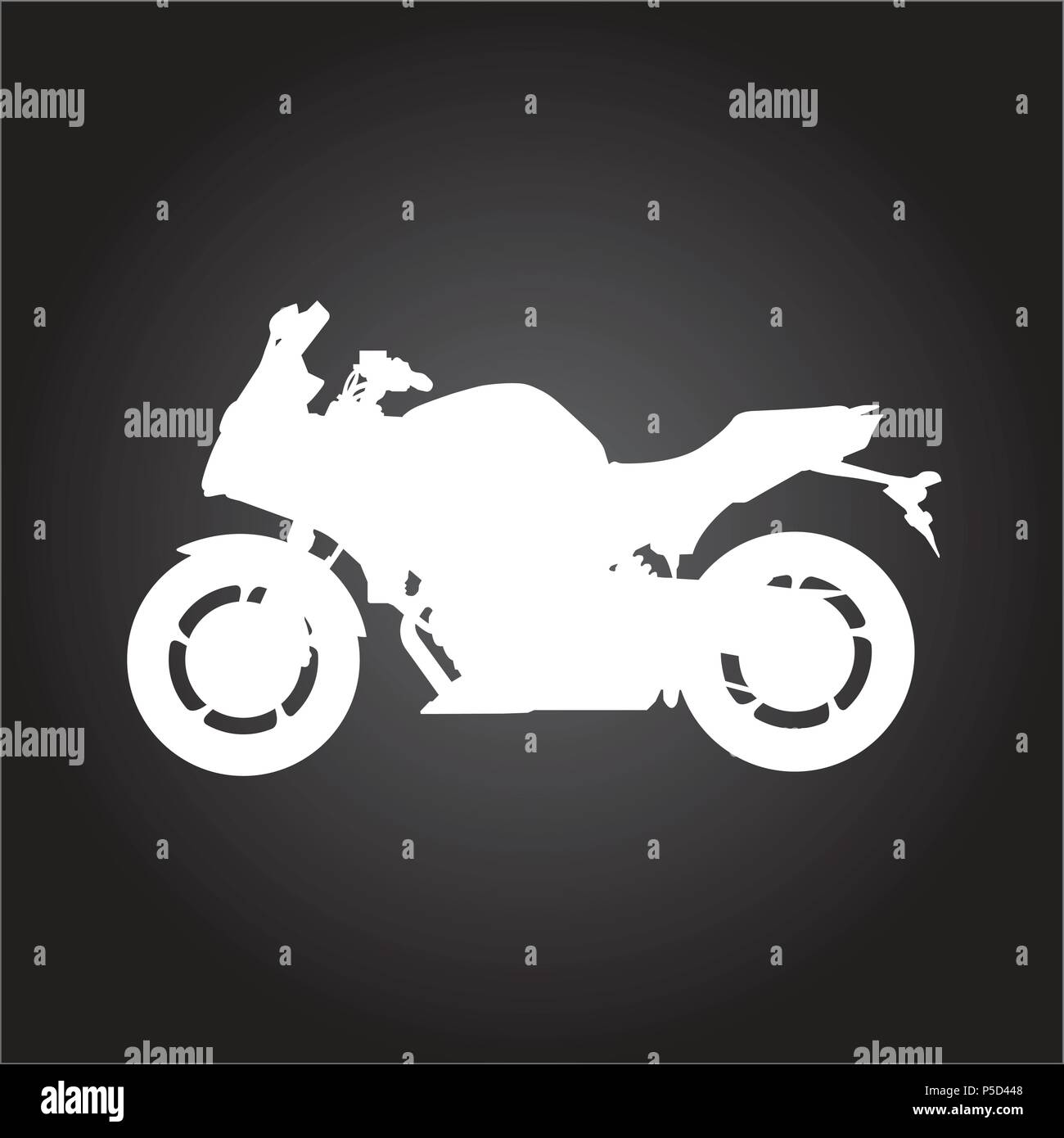 Silhouette Of Racing Motorcycle Sport Motorbike Outline Side View