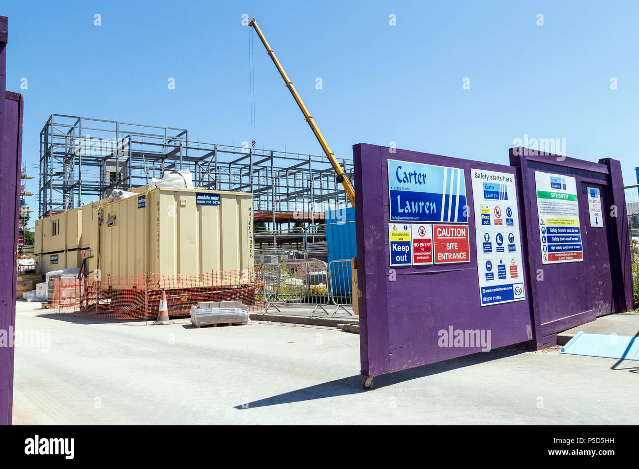 Carter Lauren Construction Ltd, As one of the largest privately owned South Wales based construction companies, Construction of commercial buildings,s - Stock Image
