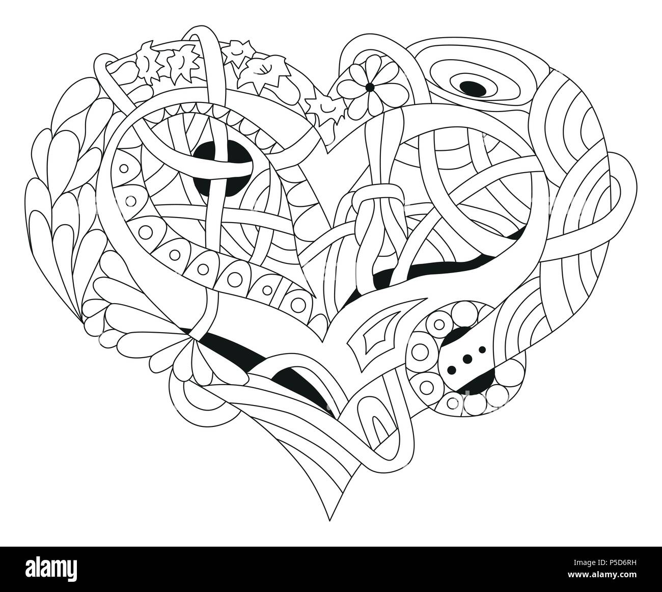 Vector Adult Coloring Book Textures. Hand-painted art design. Adult ...