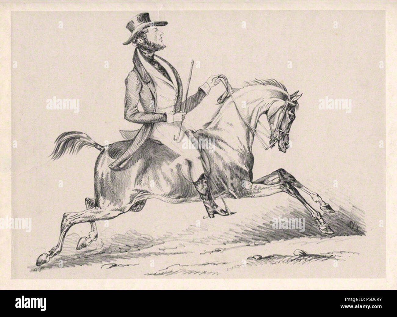 by L.O., lithograph, early 19th century 84 Alfred, Count D'Orsay by L.O. - Stock Image