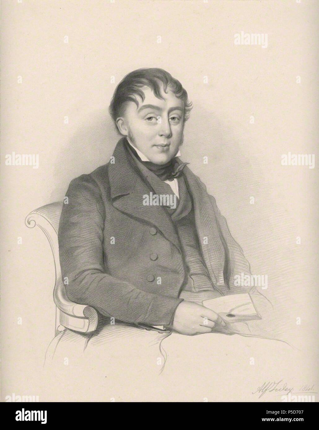 by Richard James Lane, lithograph, 1841 84 Alfred Tidey Lane - Stock Image