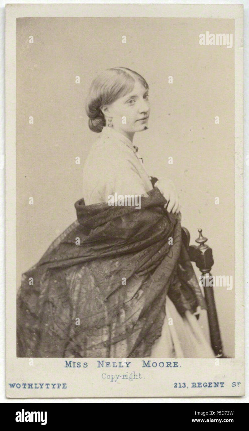 By United Association Of Photography Limited Wothlytype Carte De Visite 1864 1867 503 Eleanora Nelly Moore Actress In To