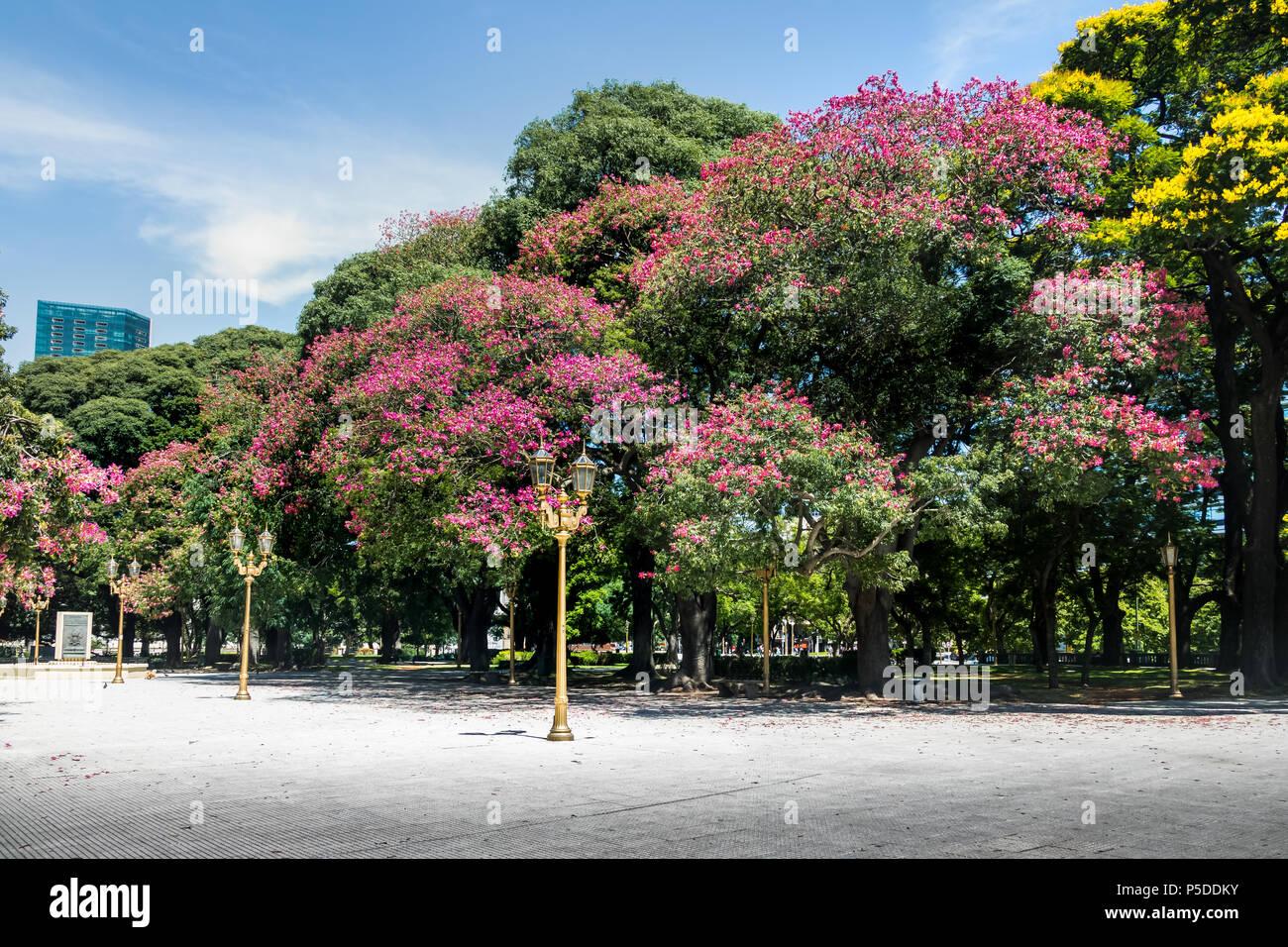 General San Martin Plaza in Retiro - Buenos Aires, Argentina - Stock Image